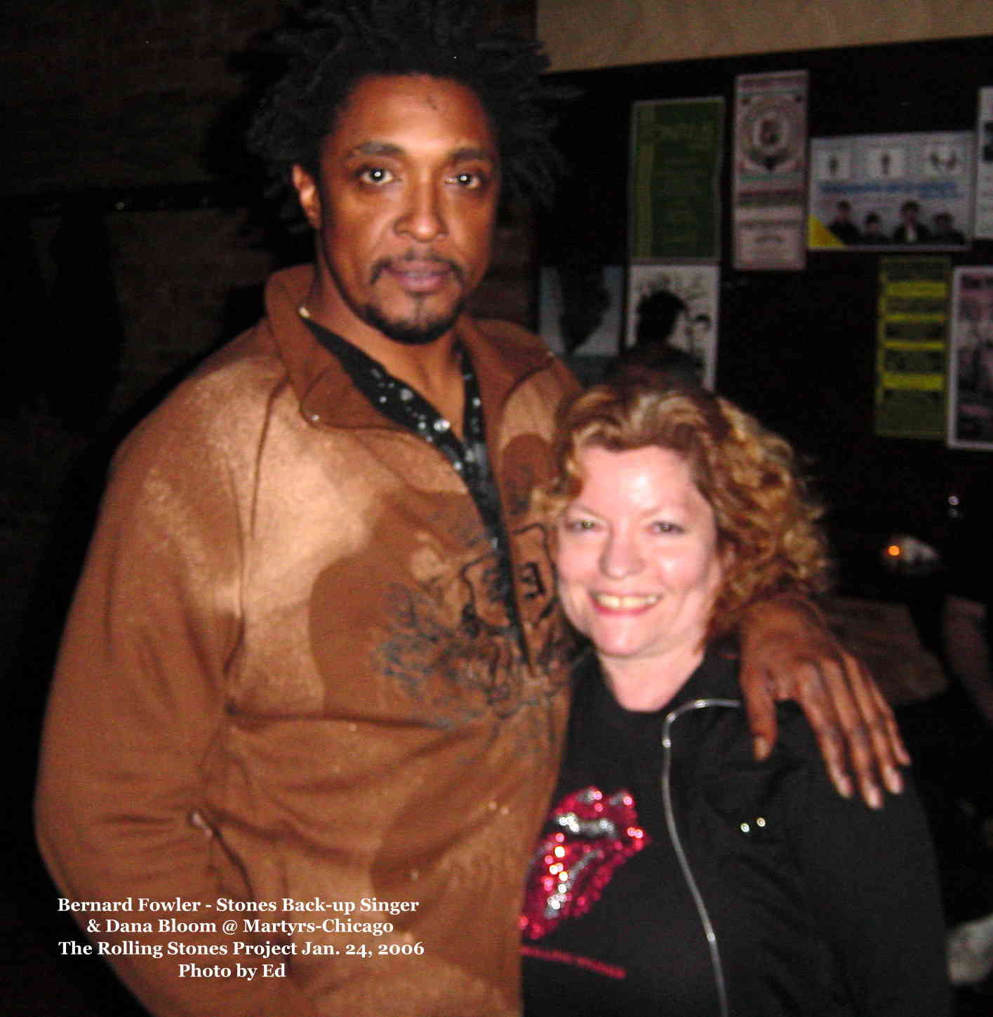 Bernard Fowler singer with The Rolling Stones & Dana