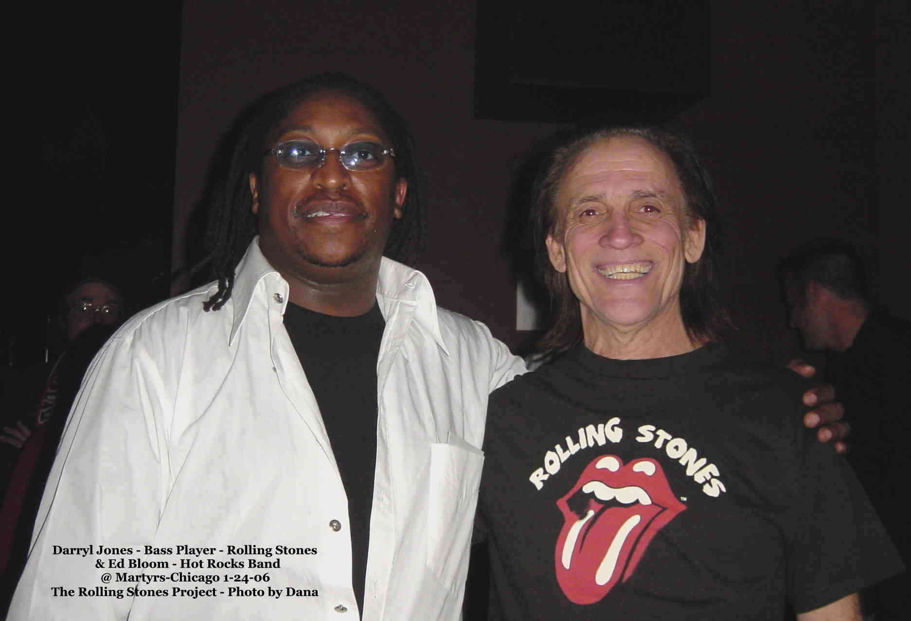 Darryl Jones bass player for The 'Stones' & Ed